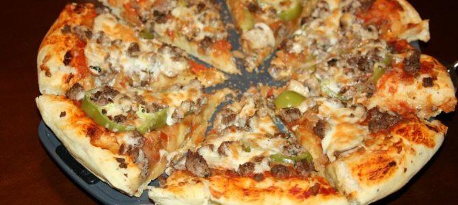 Pizza Maison à la Viande Hachée